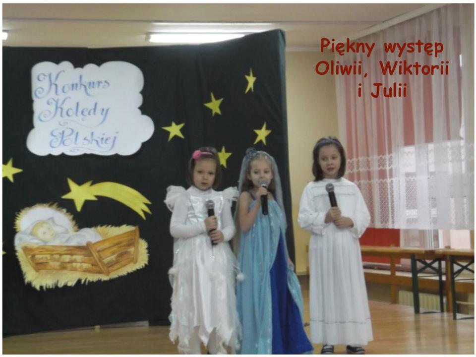 Piękny występ Oliwii, Wiktorii i Julii