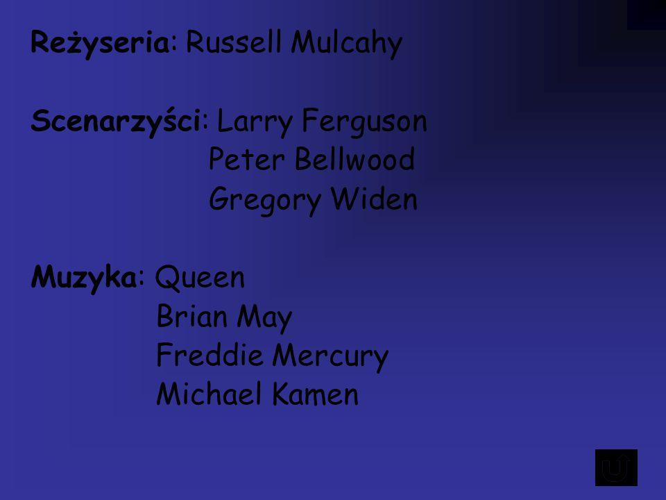 Reżyseria: Russell Mulcahy Scenarzyści: Larry Ferguson Peter Bellwood Gregory Widen Muzyka: Queen Brian May Freddie Mercury Michael Kamen