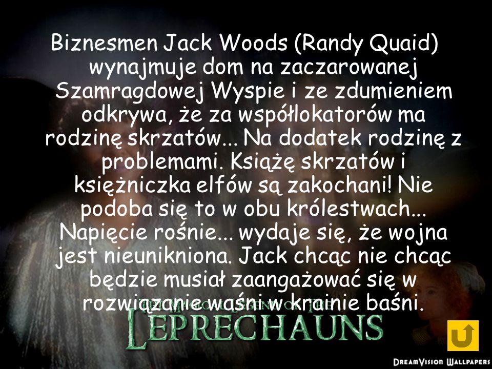 Biznesmen Jack Woods (Randy Quaid) wynajmuje dom na zaczarowanej Szamragdowej Wyspie i ze zdumieniem odkrywa, że za współlokatorów ma rodzinę skrzatów