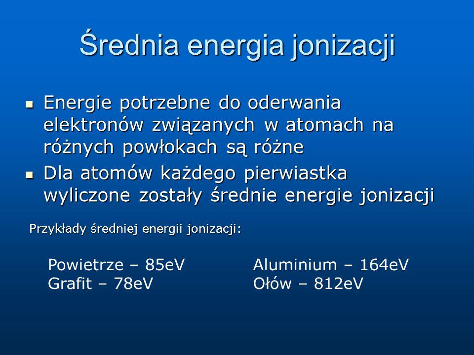 Jednostki energii w fizyce atomowej i jądrowej 1 eV – typowa energia dla atomów 1 eV – typowa energia dla atomów 1 MeV = 1 000 000 eV - typowa energia dla jąder atomowych 1 MeV = 1 000 000 eV - typowa energia dla jąder atomowych
