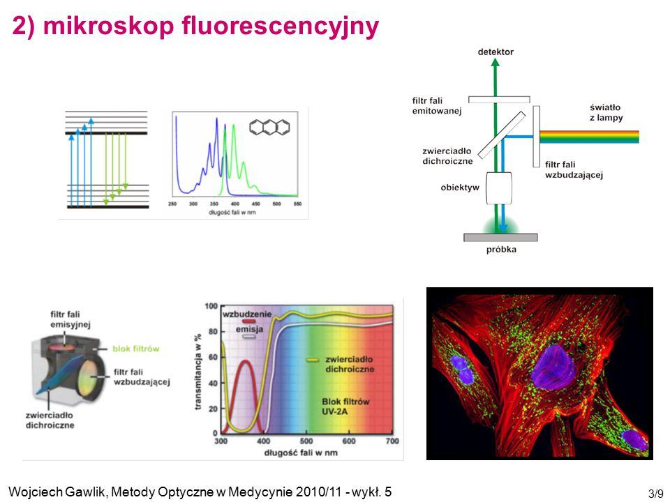 Wojciech Gawlik, Metody Optyczne w Medycynie 2010/11 - wykł. 5 3/9 2) mikroskop fluorescencyjny
