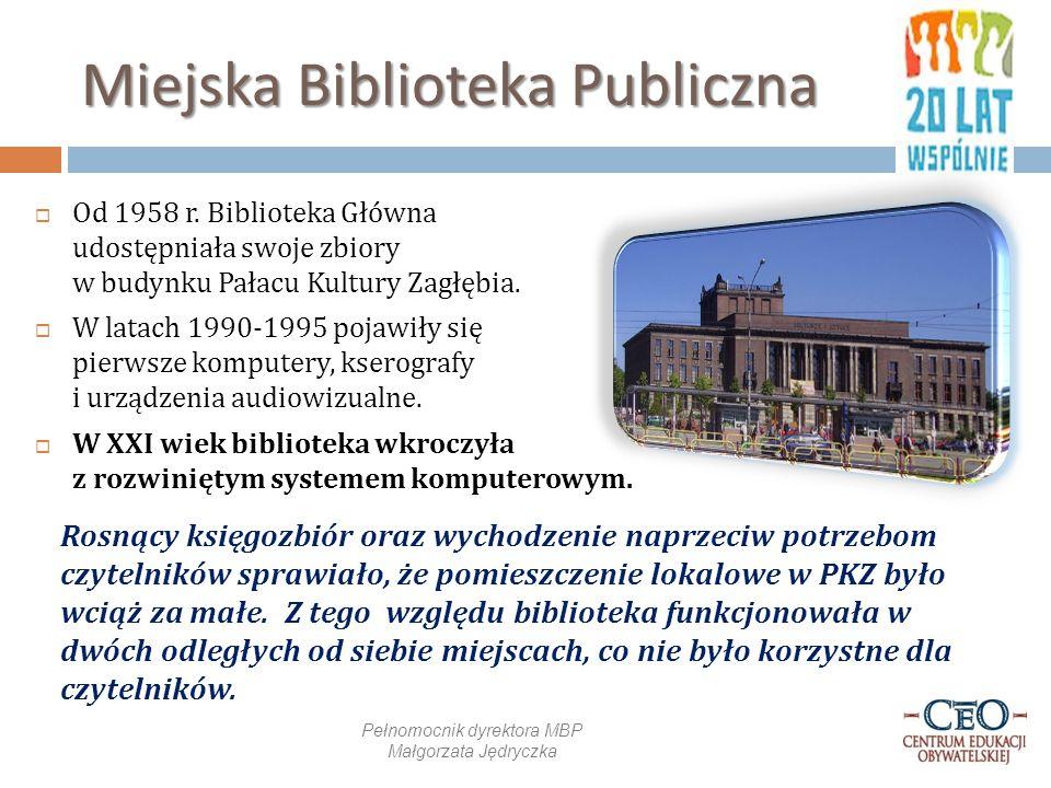Miejska Biblioteka Publiczna  Od 1958 r.