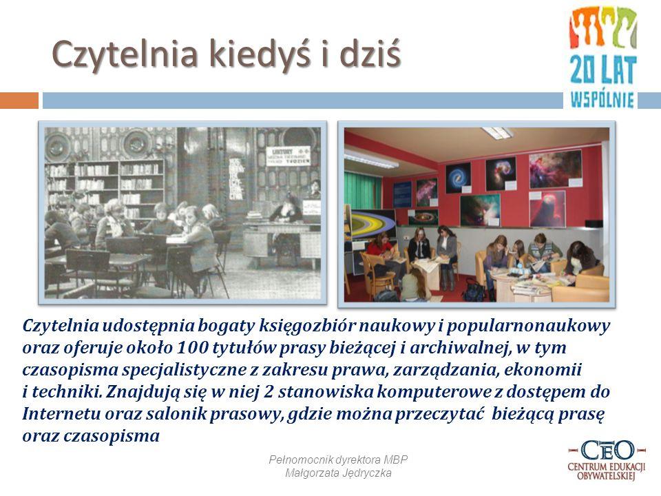 Wyposażenie i oferty Czytelnik, lat 40 Wystrój biblioteki sprawia odpowiedni klimat.