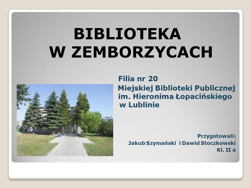 Kierownicy biblioteki 1957 – 1976 – p.Maria Rzymowska 1976 – 1977 – p.