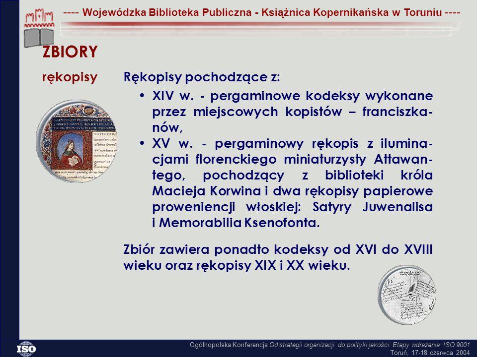 XIV w. - pergaminowe kodeksy wykonane przez miejscowych kopistów – franciszka- nów, XV w.