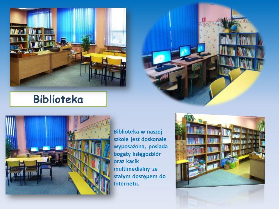 Biblioteka w naszej szkole jest doskonale wyposażona, posiada bogaty księgozbiór oraz kącik multimedialny ze stałym dostępem do Internetu.