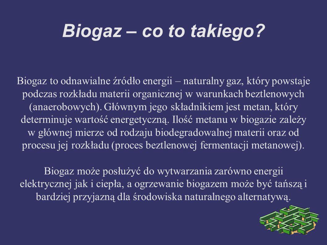 Biogaz – co to takiego.