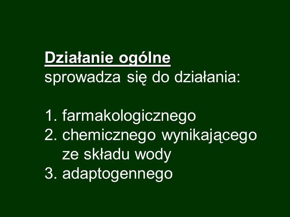 1.Działanie farmakologiczne - swoiste 1.