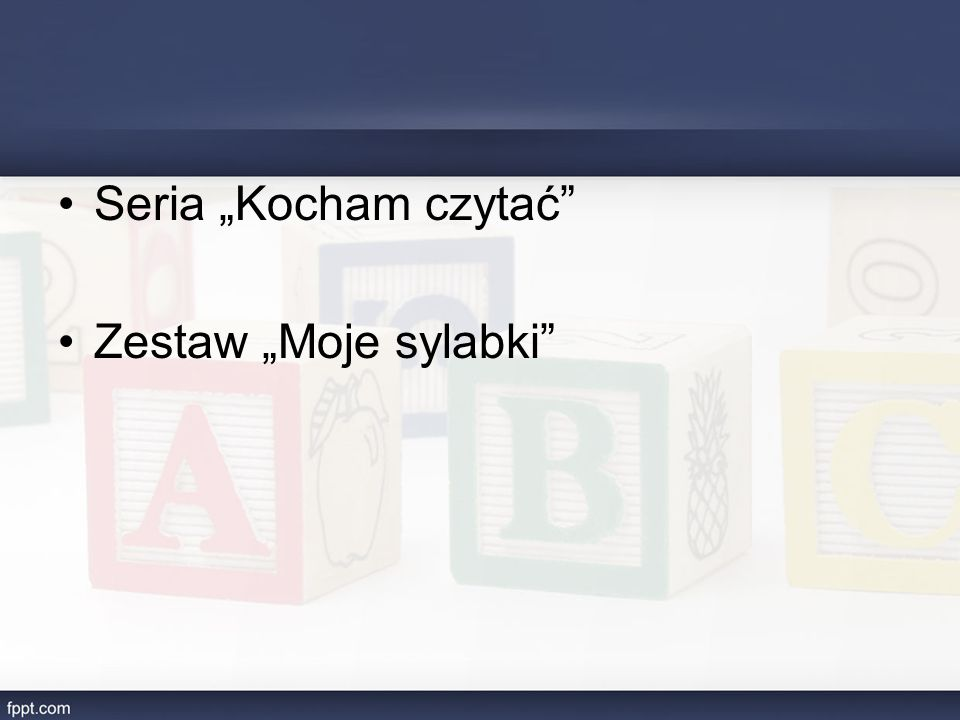 """Seria """"Kocham czytać Zestaw """"Moje sylabki"""