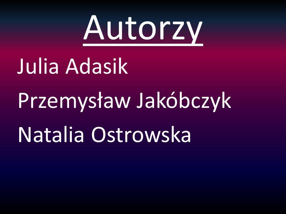 Autorzy Julia Adasik Przemysław Jakóbczyk Natalia Ostrowska