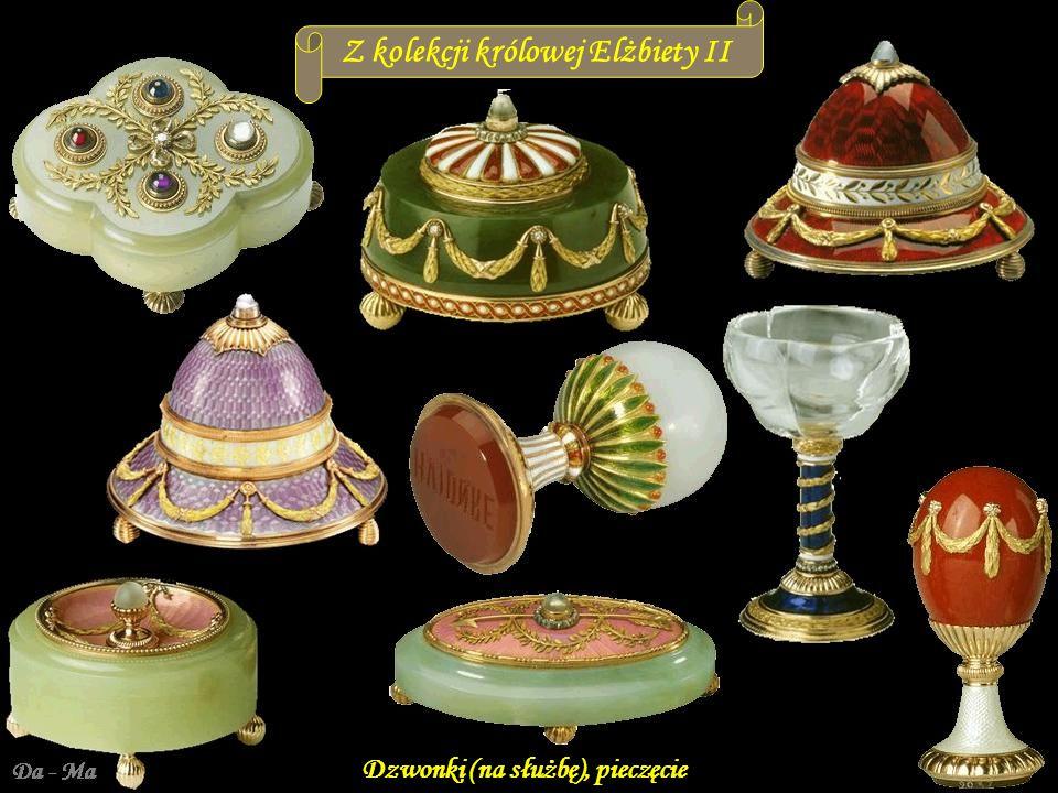 Da - Ma Z kolekcji królowej Elżbiety II Papierośnice, szkatułki, flakony na perfumy