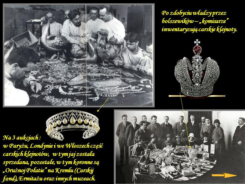 Da - Ma W czasie rosyjskiej rewolucji dobra carskiej rodziny (w tym wyroby Faberge) zostały przejęte przez nową władzę ludową.