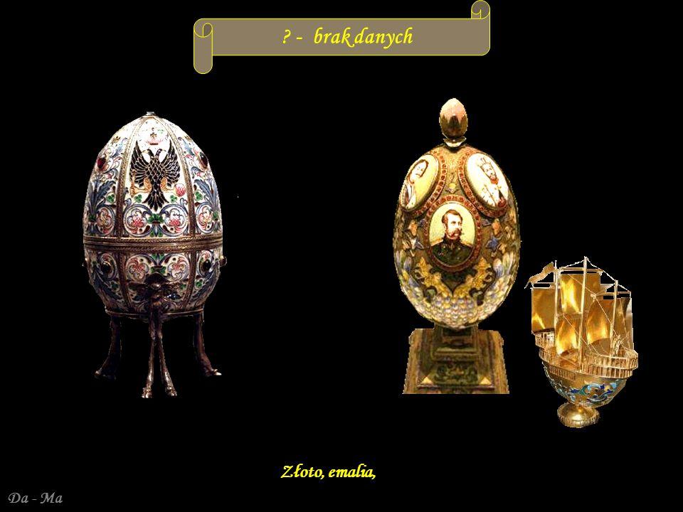 Da - Ma Nobel– 1914 r.Prezent dla dr Emanuela Nobla od przyjaciół Wysokość jajka 7 cm.