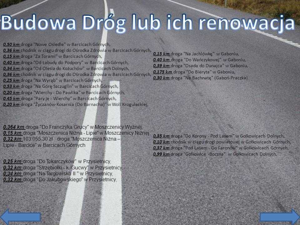 0,50 km droga