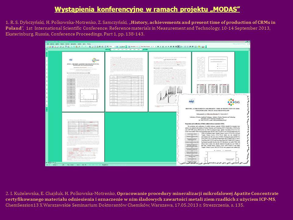 """Wystąpienia konferencyjne w ramach projektu """"MODAS 1."""