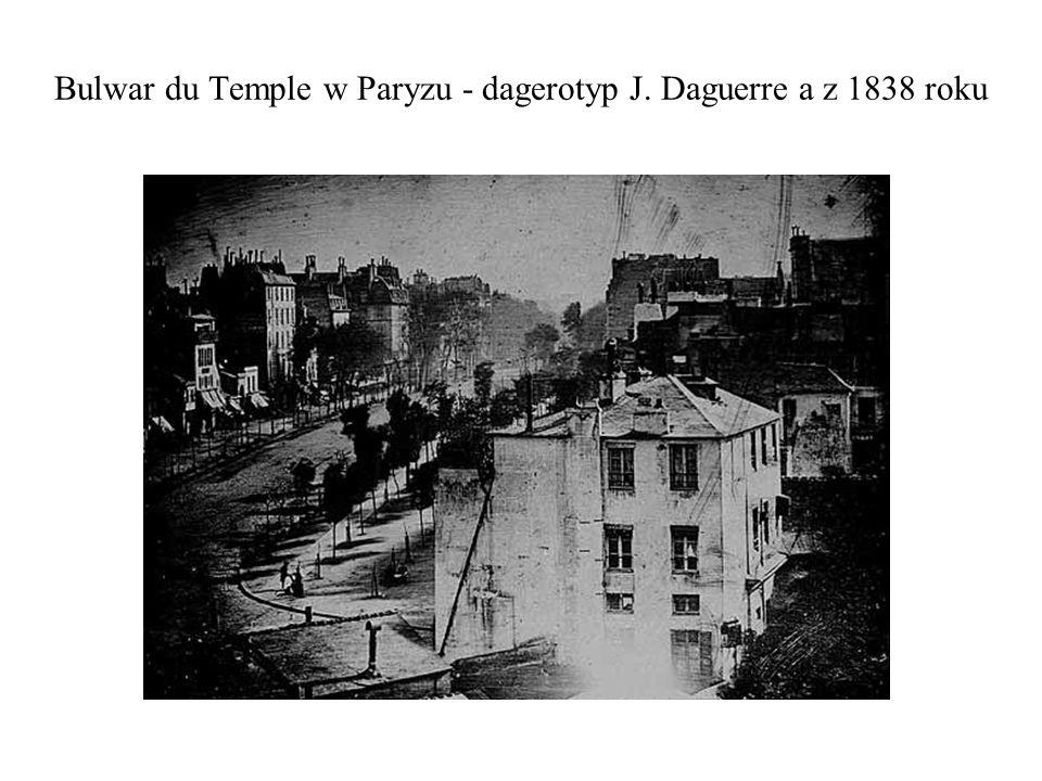 Bulwar du Temple w Paryzu - dagerotyp J. Daguerre a z 1838 roku