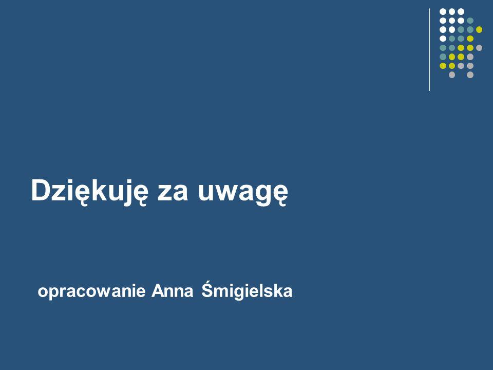 Dziękuję za uwagę opracowanie Anna Śmigielska