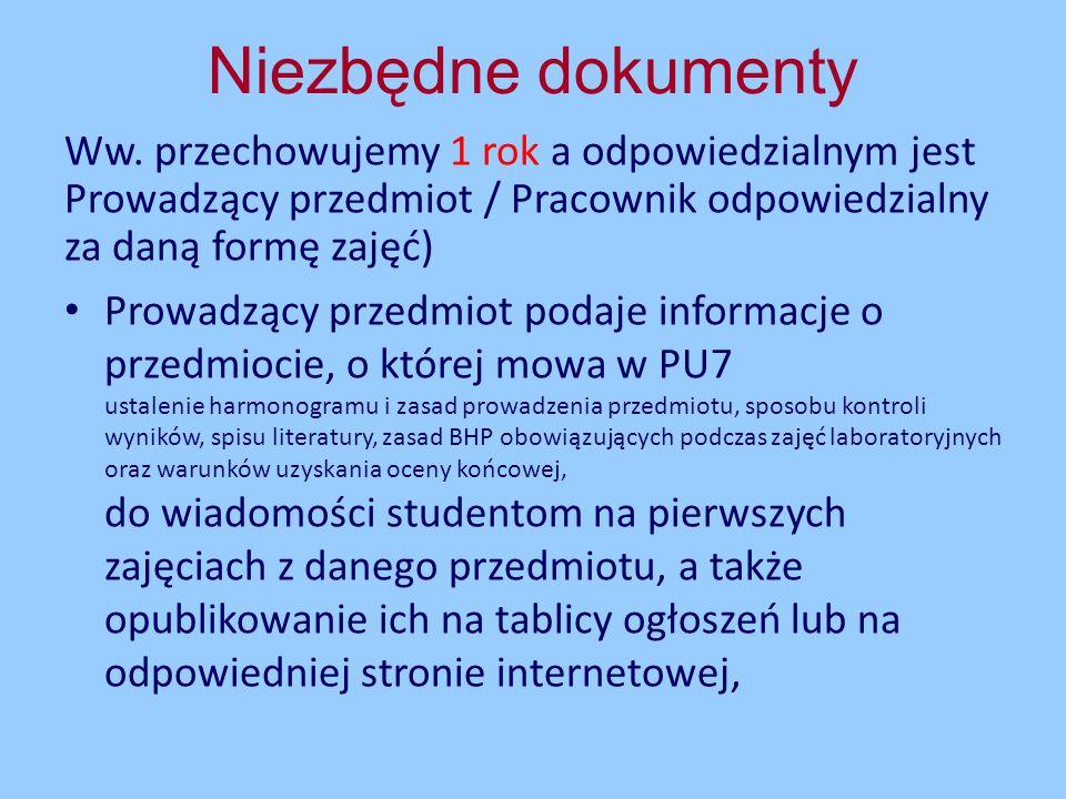 4) Zapis, który należy wykonać w przypadku przepisania studentowi oceny Przepisanie ocenyPrzepisanie oceny - (opracowuje i nadzoruje - odpowiedzialny za moduł) KRK Weryfikacja efektów kształcenia
