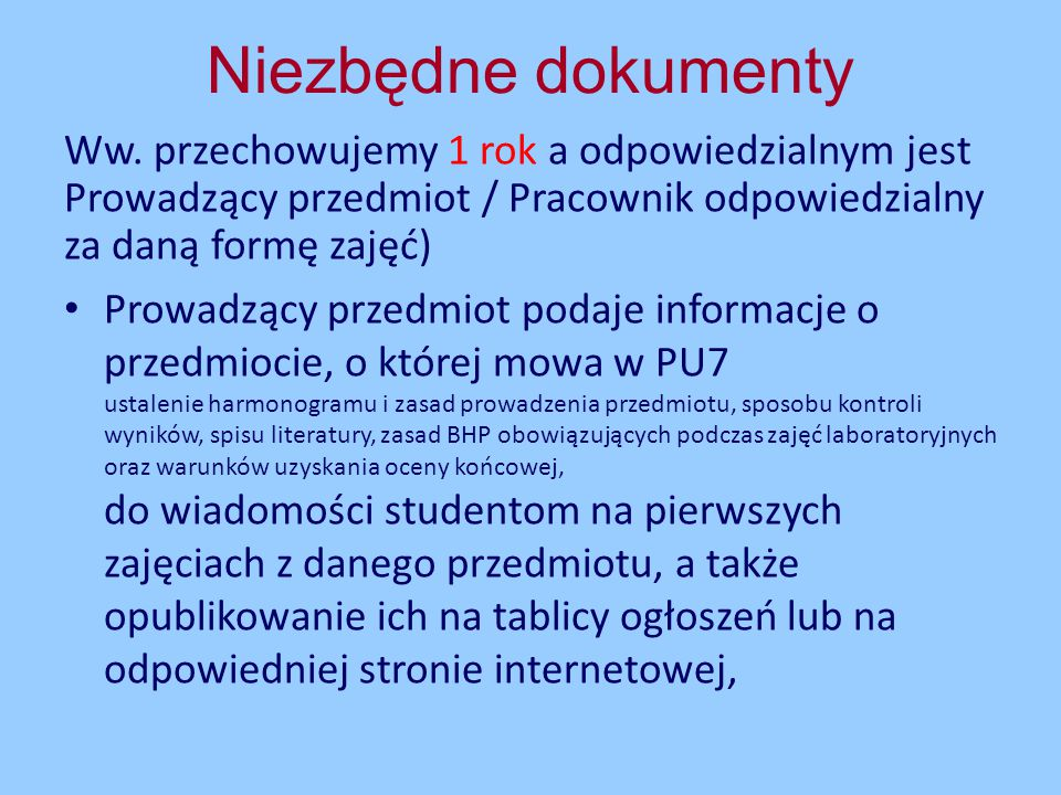 Karta przedmiotuPU7, pkt.