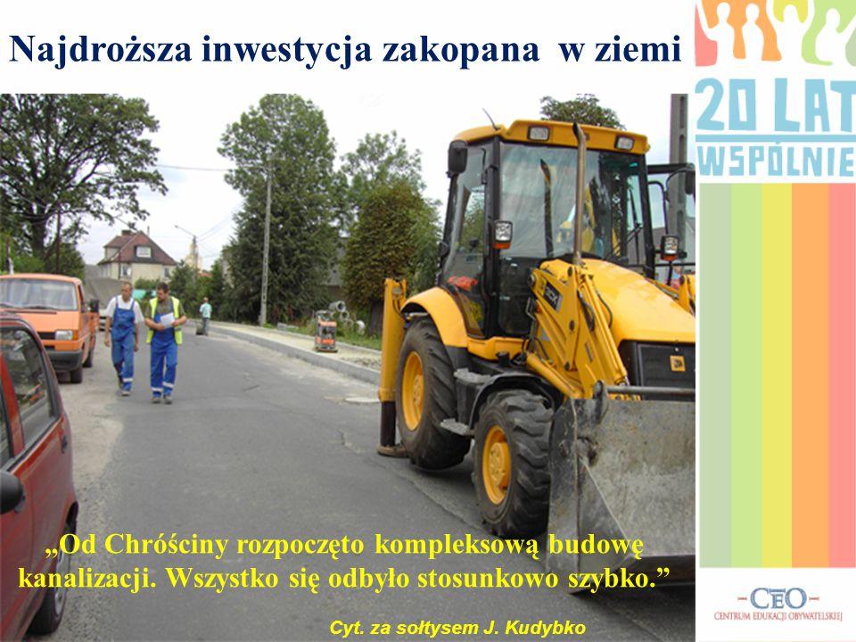 """""""Od Chróściny rozpoczęto kompleksową budowę kanalizacji."""