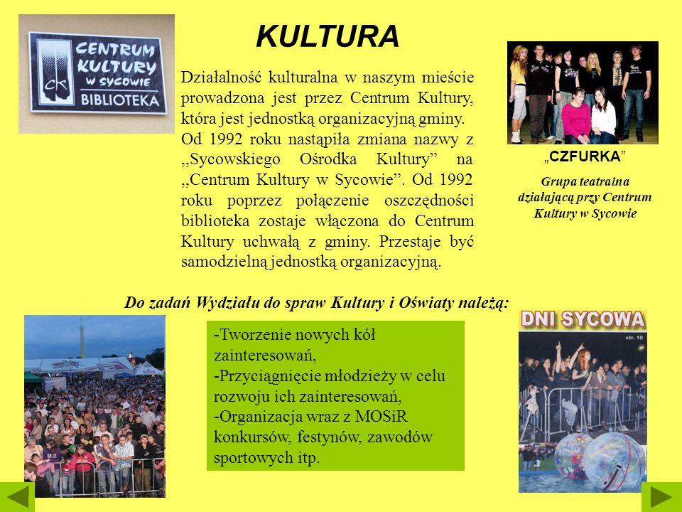 Działalność kulturalna w naszym mieście prowadzona jest przez Centrum Kultury, która jest jednostką organizacyjną gminy. Od 1992 roku nastąpiła zmiana