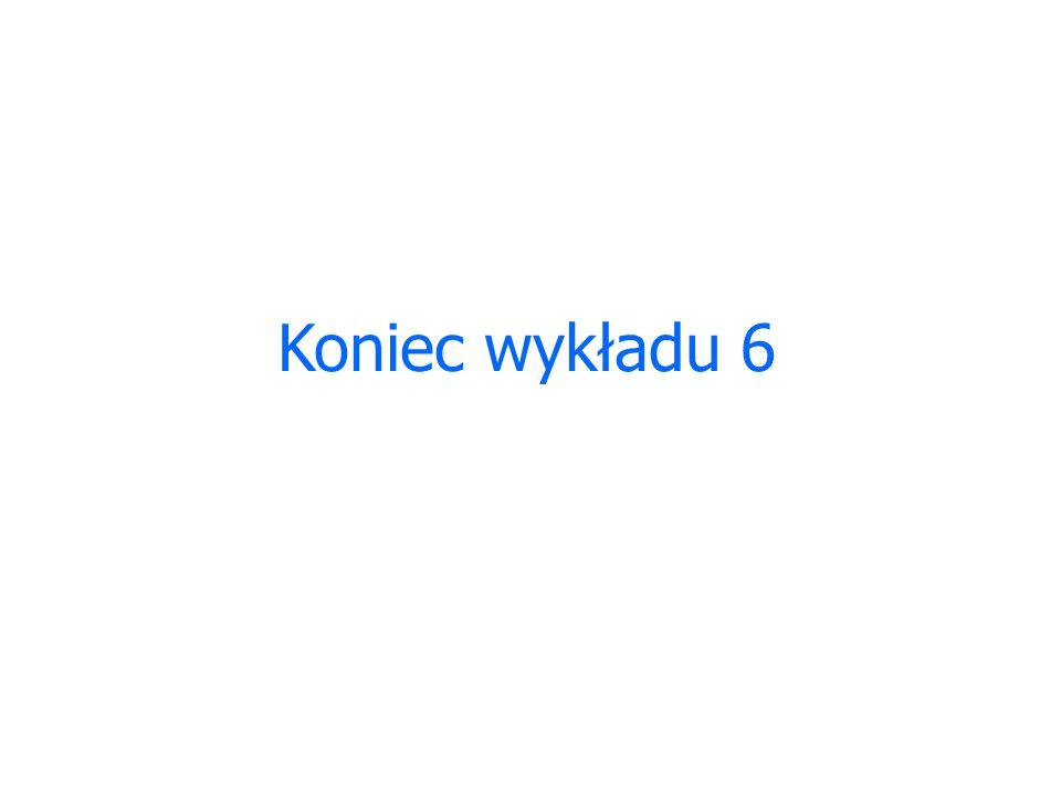 Koniec wykładu 6