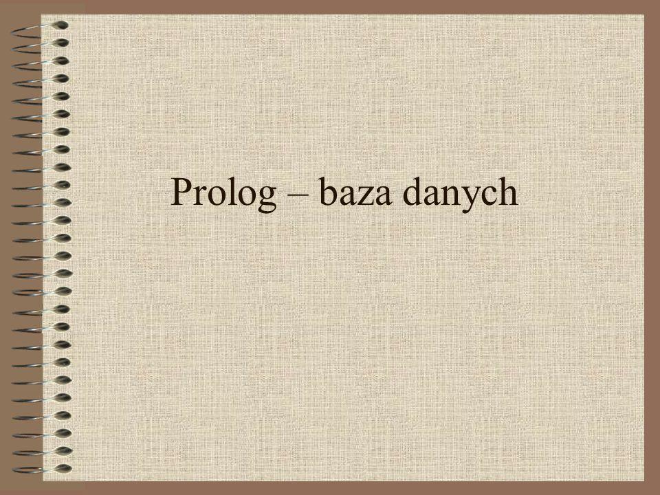 Prolog – baza danych
