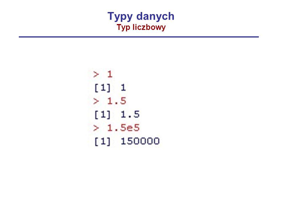 Typy danych Typ liczbowy