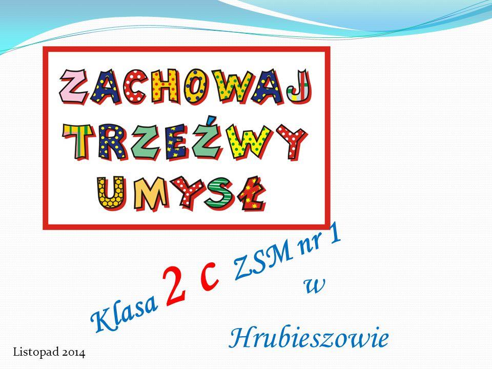 Trzeźwy umysł mamy i się nudzie nie poddamy Dzieci z klasy II c dziękują organizatorom konkursu Zespół Szkół Miejskich nr 1 w Hrubieszowie kl.