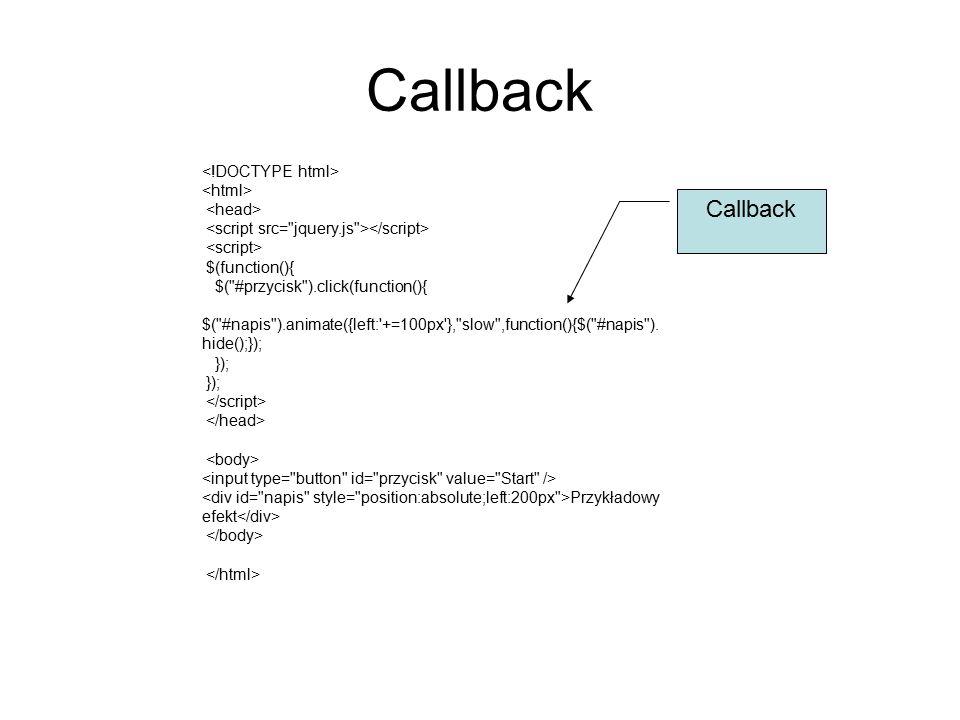 Callback $(function(){ $(