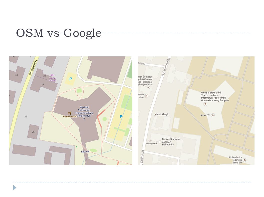 OSM vs Google