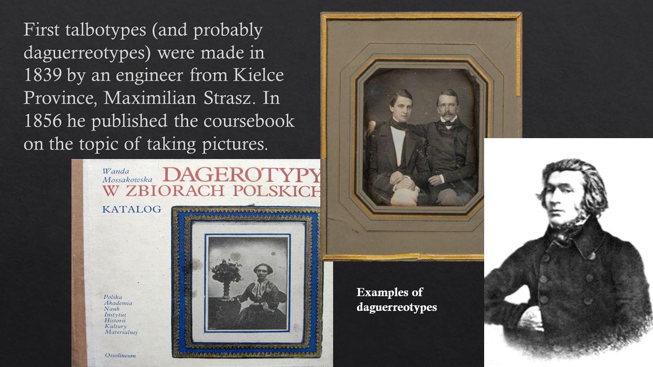 Examples of daguerreotypes