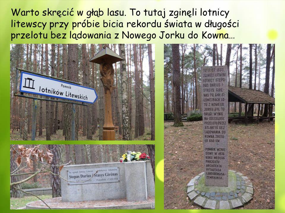 Warto skręcić w głąb lasu. To tutaj zginęli lotnicy litewscy przy próbie bicia rekordu świata w długości przelotu bez lądowania z Nowego Jorku do Kown