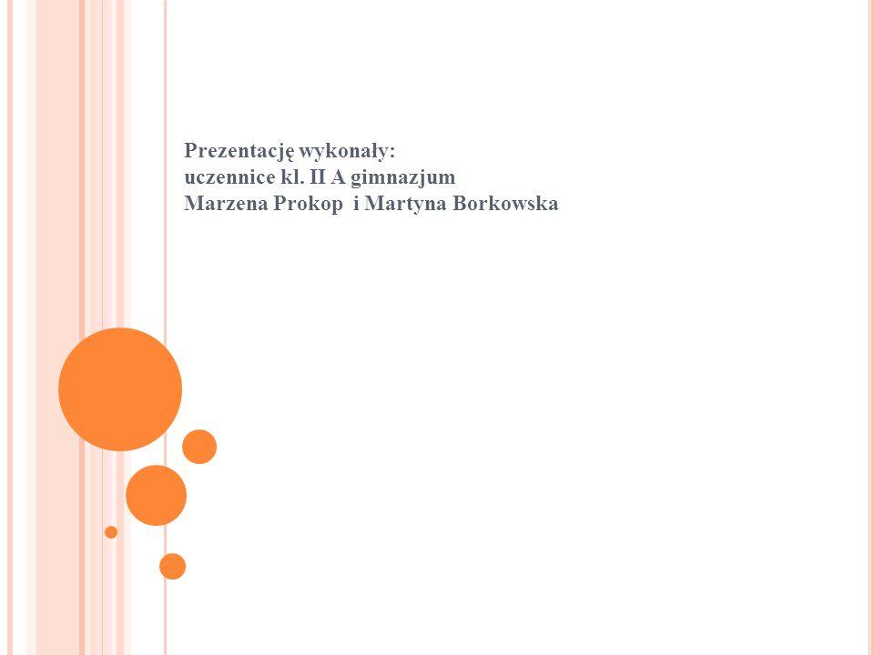 Prezentację wykonały: uczennice kl. II A gimnazjum Marzena Prokop i Martyna Borkowska