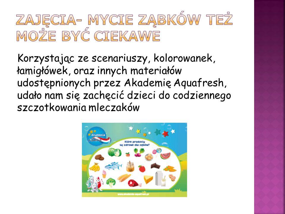 Wszystkie dzieciaczki dostały certyfikaty udziału w biciu Rekordu oraz Karty mycia ząbków.
