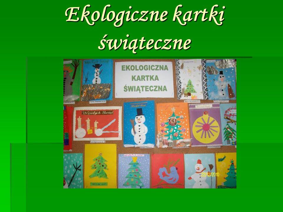 Ekologiczne kartki świąteczne