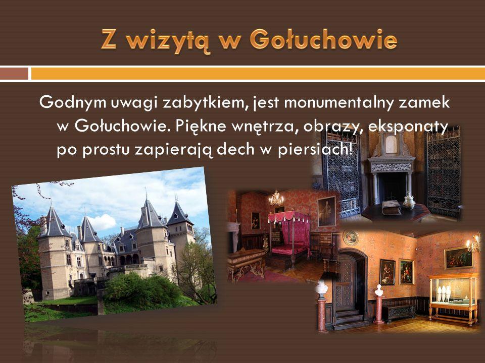 Godnym uwagi zabytkiem, jest monumentalny zamek w Gołuchowie.