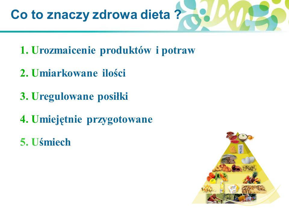 Co to znaczy zdrowa dieta .1. Urozmaicenie produktów i potraw 2.