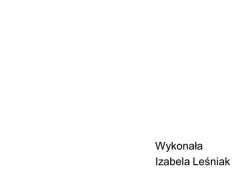 Wykonała Izabela Leśniak
