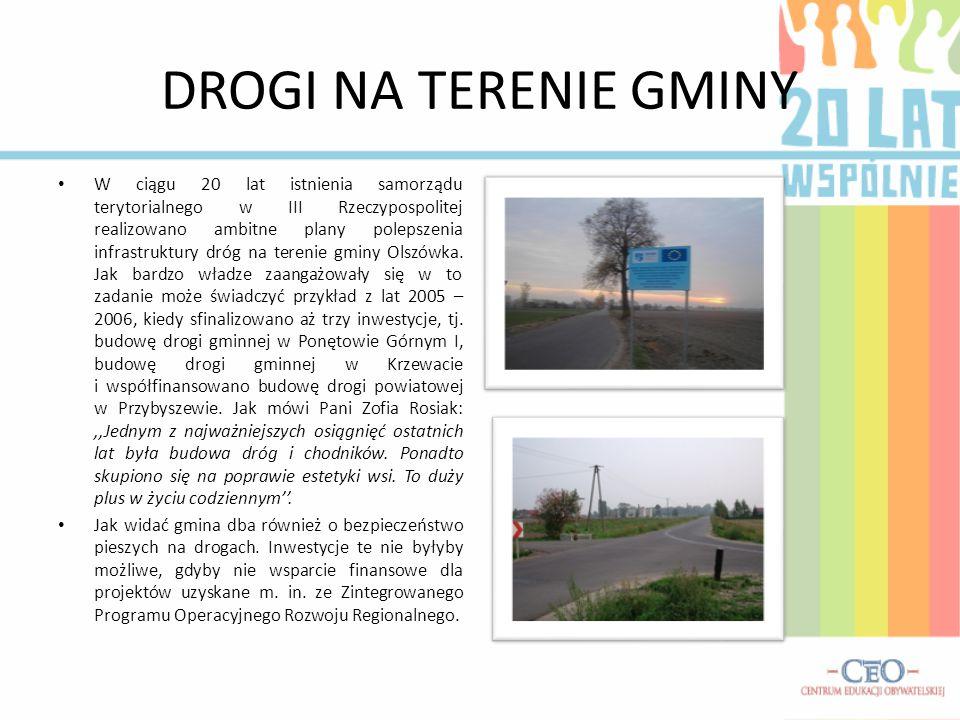 OCZYSZCZALNIA ŚCIEKÓW Na terenie gminy funkcjonuje oczyszczalnia ścieków typu,,Lemna''.
