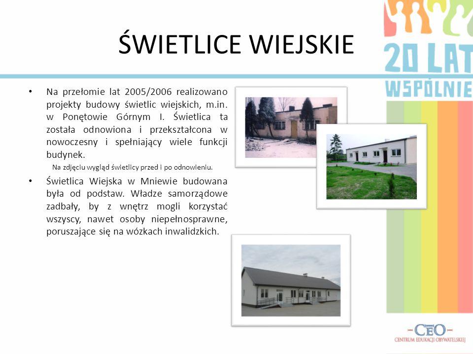 DROGI NA TERENIE GMINY W ciągu 20 lat istnienia samorządu terytorialnego w III Rzeczypospolitej realizowano ambitne plany polepszenia infrastruktury dróg na terenie gminy Olszówka.