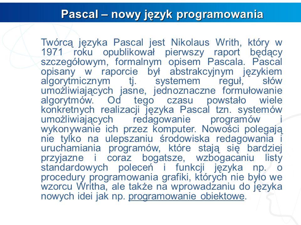 Programowanie w Turbo Pascalu Programowanie w Turbo Pascalu AUTOR: Grzegorz Nogas 2