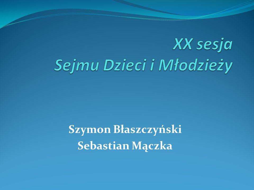 Szymon Błaszczyński Sebastian Mączka
