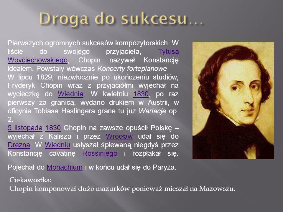 Pierwszych ogromnych sukcesów kompozytorskich.