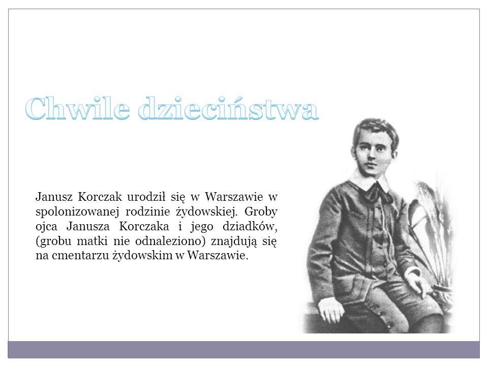 Janusz Korczak urodził się w Warszawie w spolonizowanej rodzinie żydowskiej. Groby ojca Janusza Korczaka i jego dziadków, (grobu matki nie odnaleziono