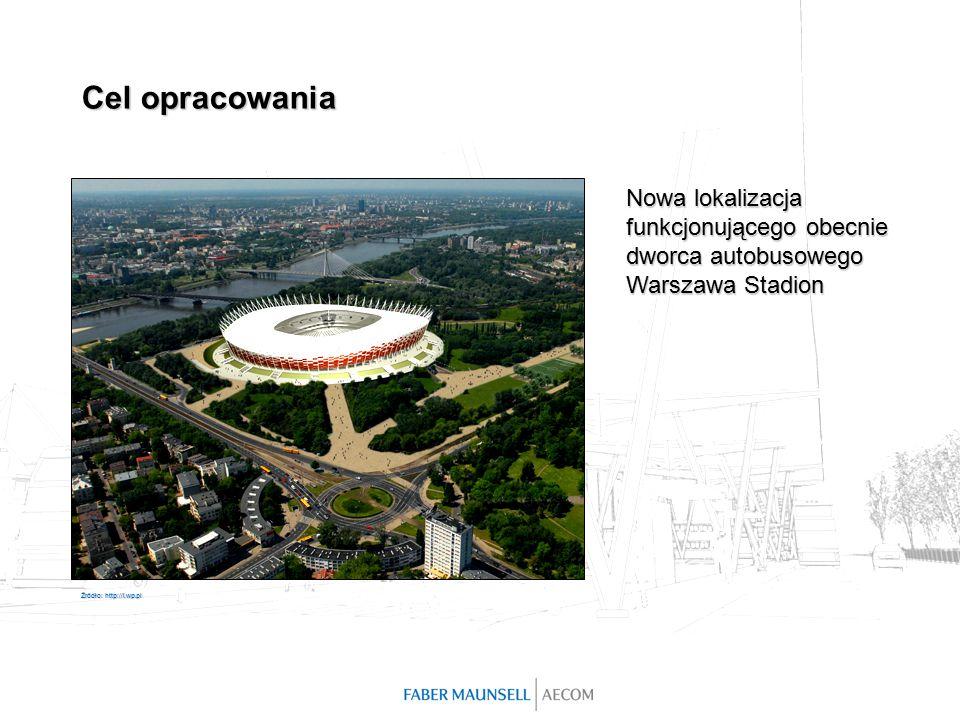 Nowa lokalizacja funkcjonującego obecnie dworca autobusowego Warszawa Stadion Źródło: http://i.wp.pl