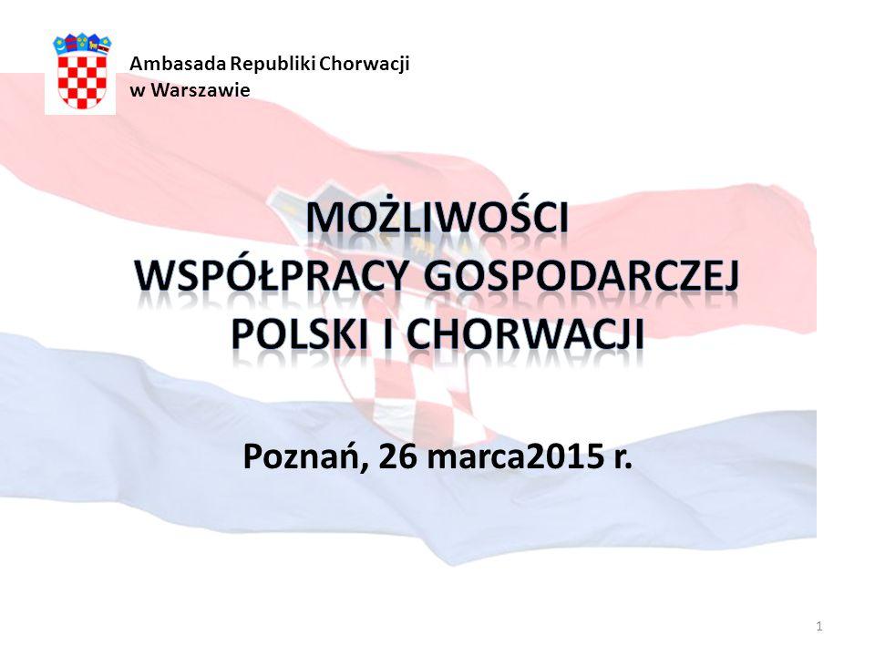 Poznań, 26 marca2015 r. Ambasada Republiki Chorwacji w Warszawie 1