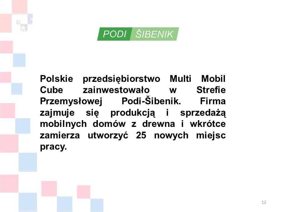 Polskie przedsiębiorstwo Multi Mobil Cube zainwestowało w Strefie Przemysłowej Podi-Šibenik.