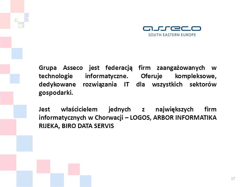 Grupa Asseco jest federacją firm zaangażowanych w technologie informatyczne.