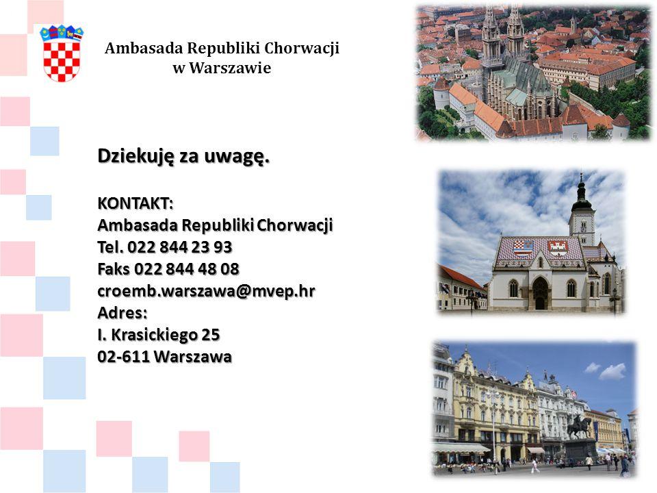 Dziekuję za uwagę. KONTAKT: Ambasada Republiki Chorwacji Tel.
